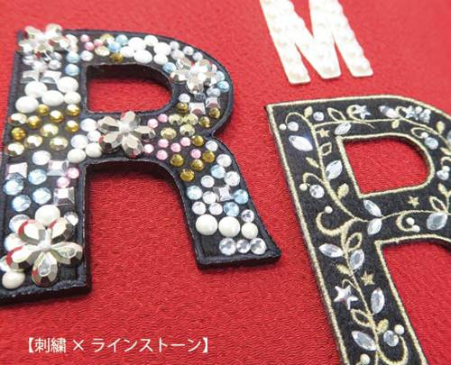 刺繍×ラインストーン