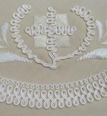 コード刺繍