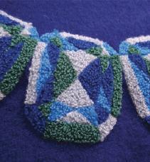 サガラ・チェーン刺繍